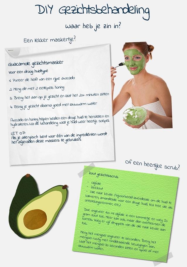 Gezichtsbehandeling - avocado masker