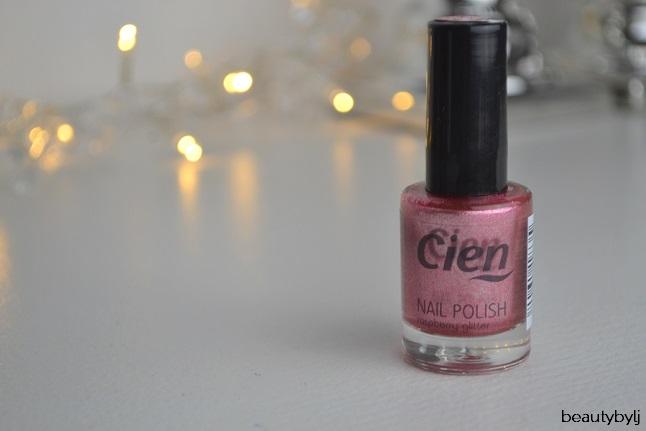 cien raspberry glitter